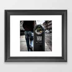 Littering is disgusting... so are those responsible  Framed Art Print