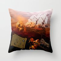 pirates Throw Pillows featuring Pirates  by valzart