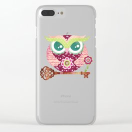 Spring Blossom Owl Clear iPhone Case