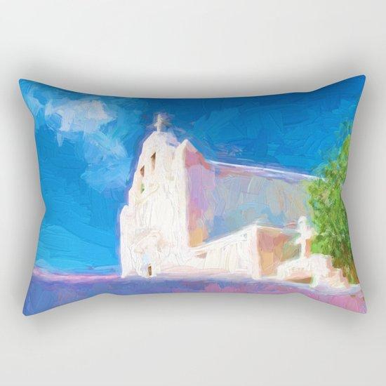 Adobe Church Rectangular Pillow