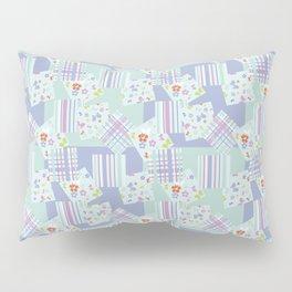 scraps in pastel colors Pillow Sham