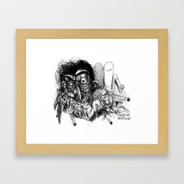 horse chewer Framed Art Print