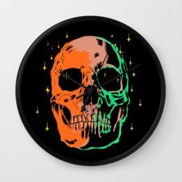 Space skull v1 Wall Clock