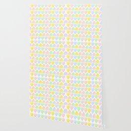 Candy Hearts Pattern Wallpaper