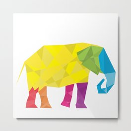 Elephant in polygon style vector Metal Print