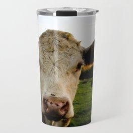Sunset Cow Travel Mug