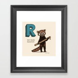 Animals & Instruments ABCs – R Framed Art Print