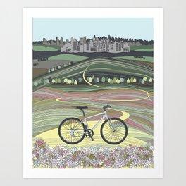 Bicycle Illustration Art Print