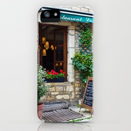 restaurant in france iPhone Case