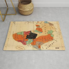 1908 Colonization Map of African Continent Color Coded by Occupying Country  Rug