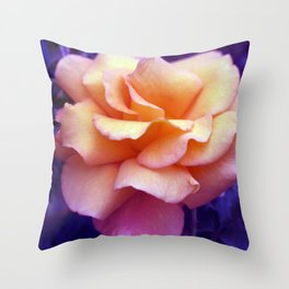 bed of roses: purple rose of cairo  Throw Pillow