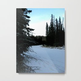 Wintertime in WaterValley Metal Print