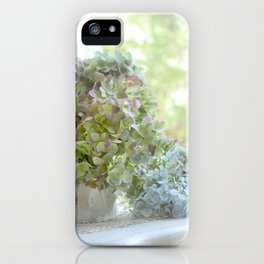 Vintage Hydrangeas on Cape Cod iPhone Case