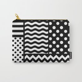 Mixed Patterns (Horizontal Stripes/Polka Dots/Wavy Stripes/Chevron/Checker) Carry-All Pouch
