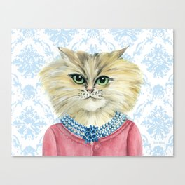 Vernonica Dressed for Luncheon Canvas Print