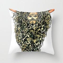swamp wizard Throw Pillow