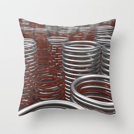 Glass and metal springs and coils Throw Pillow