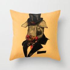 Mr. P I G Throw Pillow