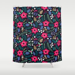 Seamless Floral Pattern Shower Curtain