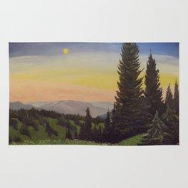 Moonlit Mountain Rug