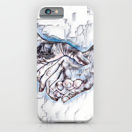 GALATHI Valentine Holding Hands iPhone Case