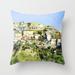 Catanzaro: view of the city Throw Pillow