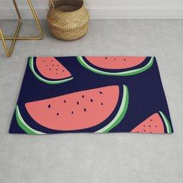 Bright Watermelon Print Rug