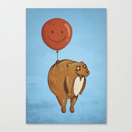 Float On, Bear, Float On Canvas Print