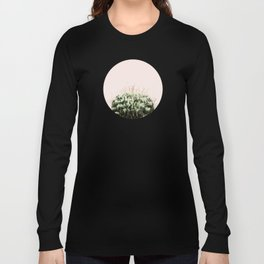 Cactus on pink Long Sleeve T-shirt