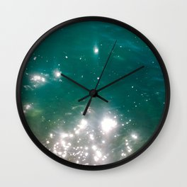 The color of the sea Wall Clock
