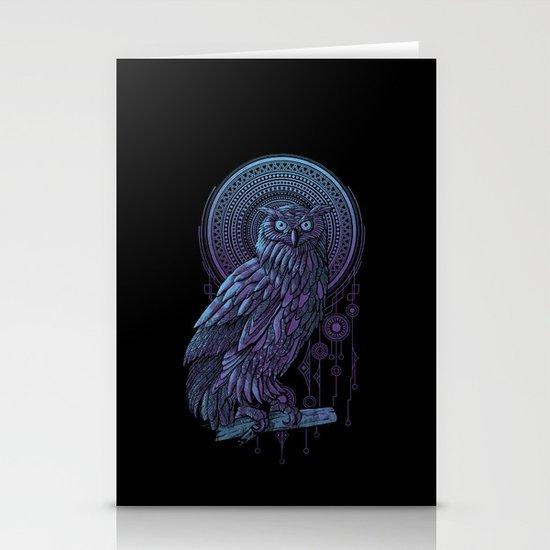 Owl Nouveau II Stationery Cards