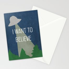 I Want To Believe Stationery Cards