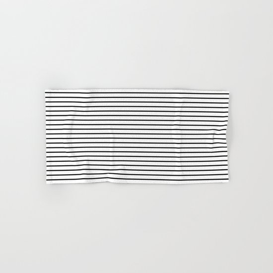 Horizontal Lines (Black/White) Hand & Bath Towel