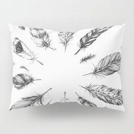 circulo de plumas Pillow Sham