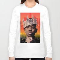 kendrick lamar Long Sleeve T-shirts featuring King Kendrick by Tecnificent