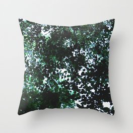 Tops of the leaves of trees silhouettes Throw Pillow