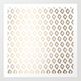 Gold Diamond Design II Art Print