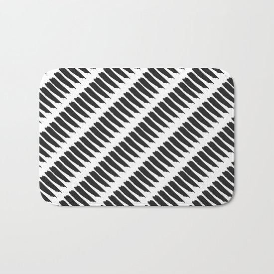 Black and white tiger stripes bath mat by pencil me in - Tiger stripes black and white ...