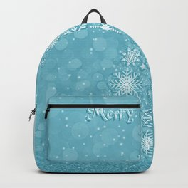 Snowflake X-Mas Tree - Teal 01 Backpack