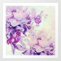 pastel Art Prints featuring pastel bouquet by clemm