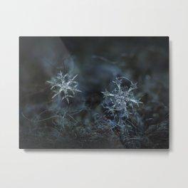 Real snowflake macro photo - When winters meets 2 Metal Print