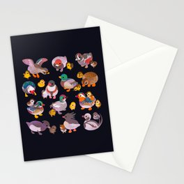 Duck and Duckling - dark Stationery Cards