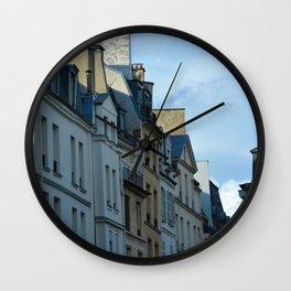 Le Marais in the Shadows Wall Clock