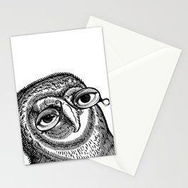 Owl with Pince-Nez Stationery Cards