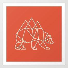 Nomadic Bear Art Print
