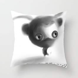 Teddy Ninja Throw Pillow