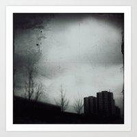 Rain that falls for weeks Art Print