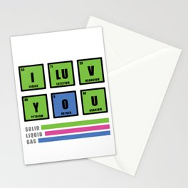 Love is chemistry Stationery Cards