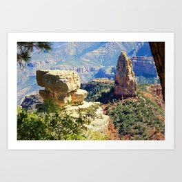 North Rim of the Grand Canyon by Reay of Light Art Print