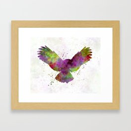 Owl 02 in watercolor Framed Art Print